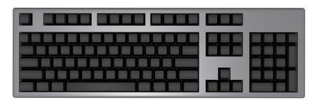 Zwart toetsenbord Stock Fotografie