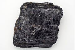 Zwart tourmalinekristal Stock Afbeelding