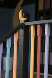 Zwart Traliewerk met Maan 2 Stock Foto
