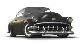 Zwart Uitstekend auto 3D model Stock Afbeeldingen