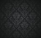 Zwart uitstekend behang Royalty-vrije Stock Afbeeldingen