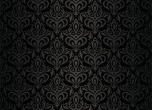 Zwart uitstekend naadloos behang Stock Afbeeldingen