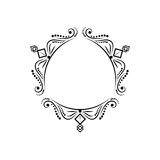 Zwart uitstekend three-sided klassiek kader Royalty-vrije Stock Afbeelding