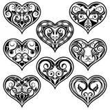 Zwart valentijnskaarthart Royalty-vrije Illustratie