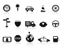 Zwart verkeerspictogram Stock Foto