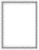 Zwart vierkant kader, geometrische vormen Brievengrootte Royalty-vrije Stock Fotografie