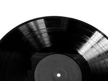 Zwart Vinylverslag Stock Foto