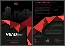 Zwart Vliegermalplaatje met Rood Geometrisch Lint royalty-vrije illustratie
