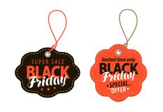 Zwart vrijdagconcept Verkoop, het winkelen, aanbieding, goedkope prijsbanner Vector illustratie vector illustratie