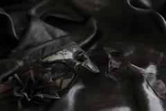 Zwart vrouwelijk masker royalty-vrije stock foto