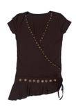 Zwart vrouwelijk overhemd stock afbeeldingen