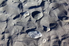 Zwart vulkanisch zand in Tenerife Royalty-vrije Stock Foto's