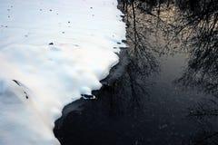 Zwart water royalty-vrije stock afbeeldingen