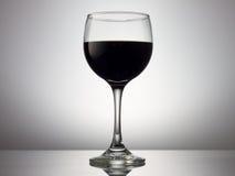 Zwart wijnglas Royalty-vrije Stock Foto's