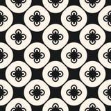 Zwart-wit abstract bloemen naadloos patroon in Aziatische stijl Herhaal ontwerp voor decor, textiel, vloer het betegelen vector illustratie