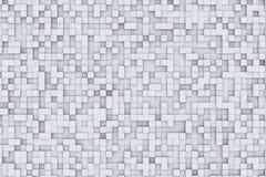 Zwart-wit Abstract 3d Geometrisch Kubus Achtergrondontwerppatroon Stock Afbeeldingen