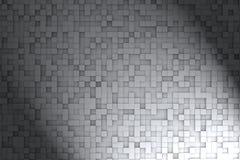 Zwart-wit Abstract 3d Geometrisch Kubus Achtergrondontwerppatroon Stock Foto's