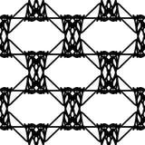 Zwart-wit abstract geometrisch naadloos patroon Royalty-vrije Stock Afbeelding