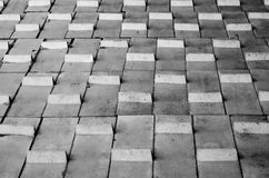 Zwart-wit abstract geometrisch patroon Royalty-vrije Stock Foto's