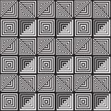 Zwart-wit Abstract Geometrisch Patroon Optische illusie Stock Fotografie