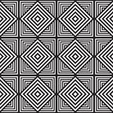 Zwart-wit Abstract Geometrisch Patroon Optische illusie Royalty-vrije Stock Fotografie