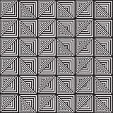 Zwart-wit Abstract Geometrisch Patroon Optische illusie Stock Afbeelding