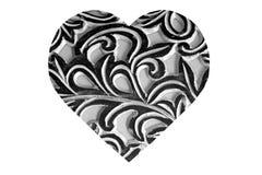 Zwart-wit Abstract Hart Royalty-vrije Stock Fotografie