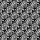 Zwart-wit abstract modern bloemen naadloos patroon vector illustratie