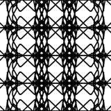 Zwart-wit abstract naadloos patroon Royalty-vrije Stock Foto