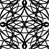 Zwart-wit abstract naadloos patroon Royalty-vrije Stock Afbeeldingen