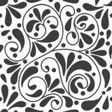 Zwart-wit abstract naadloos patroon met elementen van dalingen, punten en lijnen vector illustratie