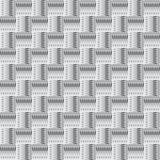 Zwart-wit abstract naadloos patroon met vierkanten Stock Afbeeldingen