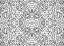Zwart-wit abstract overzichtspatroon royalty-vrije illustratie