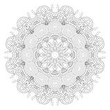 Zwart-wit abstract patroon, mandala Stock Illustratie