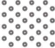Zwart-wit Abstract Psychedelisch Art Background Naadloos patroon Royalty-vrije Stock Fotografie
