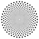 Zwart-wit Abstract Psychedelisch Art Background Vector illustratie royalty-vrije illustratie