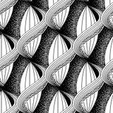 Zwart-wit abstract vector Grieks naadloos patroon Moderne sier halftone achtergrond Herhaal zwart-wit bloemenachtergrond royalty-vrije illustratie