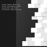 Zwart-wit abstracte achtergrond Stock Afbeelding