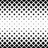 Zwart-wit abstracte vierkante patroonachtergrond - zwart-wit geometrisch vectorontwerp van diagonale rond gemaakte vierkanten vector illustratie
