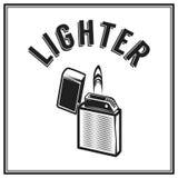 Zwart-wit antiek hipster uitstekend etiket, kenteken, kam firestarter voor het embleem van de flayeraffiche Stock Afbeelding
