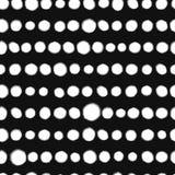 Zwart-wit artistiek vlekken naadloos patroon, vector stock illustratie