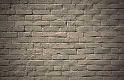 Zwart-wit bakstenen muurachtergrond Stock Afbeelding