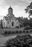 zwart-wit beeld Spasskykathedraal van het Vernicle-Beeld van de Verlosser in het Andronikov-klooster, Moskou Royalty-vrije Stock Fotografie