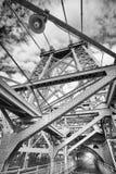 Zwart-wit beeld van de Williamsburg-Brug, NYC royalty-vrije stock foto's