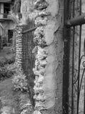 Zwart-wit beeld van een oud stadsdeel Stock Foto