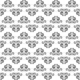 Zwart-wit bloemen naadloos patroon - vectorillustratie Stock Afbeelding