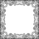 Zwart-wit bloemen uitstekend kader Royalty-vrije Stock Fotografie