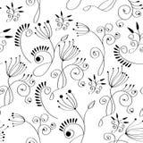 Zwart-wit bloemenachtergrond Royalty-vrije Stock Foto's