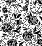 Zwart-wit bloemenpatroon Royalty-vrije Stock Foto