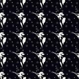 Zwart-wit bloemenpatroon Stock Foto's
